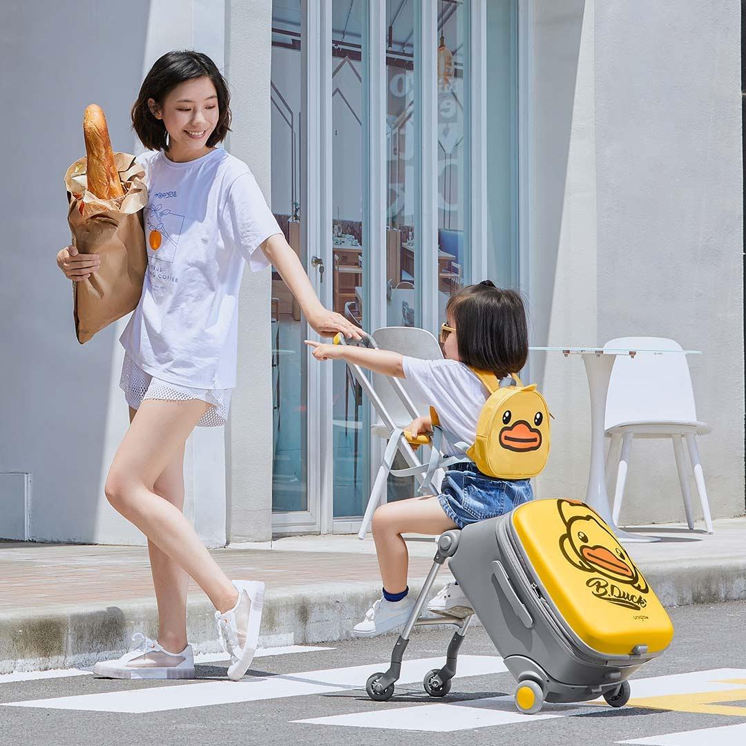 Vali trẻ em tích hợp xe đẩy Unigrow B.Duck