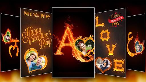 Fire Text Photo Frame u2013 New Fire Photo Editor 2020 1.33 screenshots 1