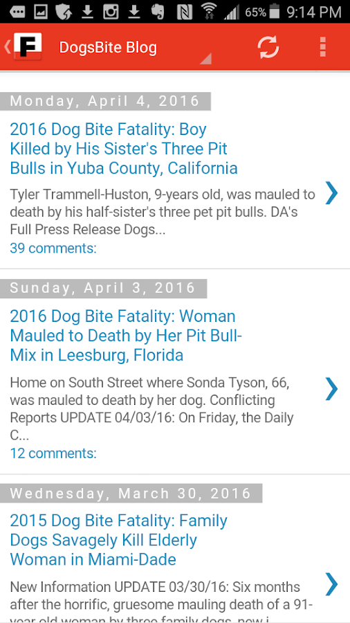 US Fatal Pit Bull Attacks- screenshot