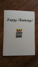Photo: 二つ折りカード 3 (Happy Birthday)〈表〉