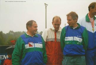Photo: Bronze ved DM stafet i Langesø 9/9 i klasse H40 Henning Larsen, Ole Andersen og Jens Jørgen Jensen