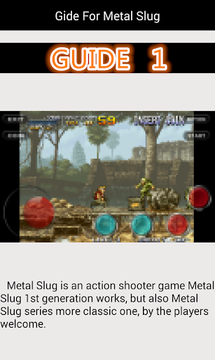 Guide For Metal Slug 1.8 androidappsheaven.com 1