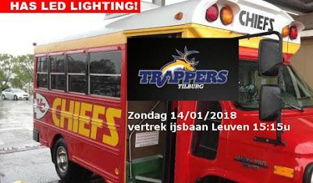 Tilburg Trappers - Chiefs Leuven: zondag 14/01/2018