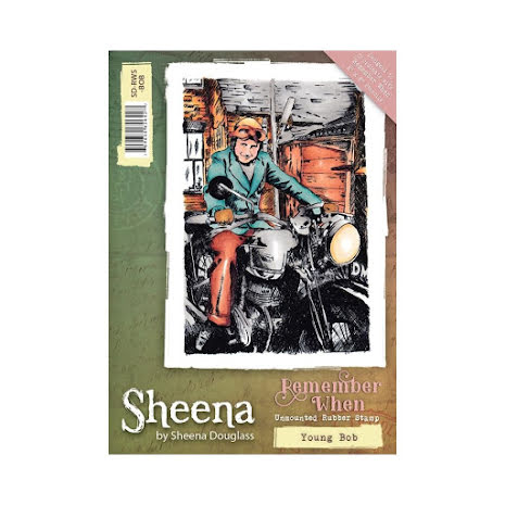 Sheena Douglass Remember When A6 Rubber Stamp - Young Bob UTGÅENDE