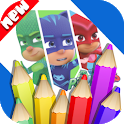 Coloring Heroes Masks Book icon