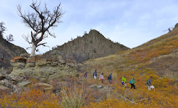 Photo: Out of the canyon - back onto the prairie.