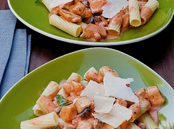 Creamy Rigatoni With Chicken And Portabellas Recipe