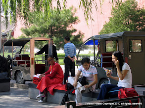 Photo: locals hang out in Beijing, China