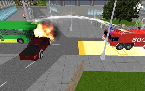 消防士緊急トラック
