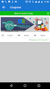 eSwasthya-20% off on Medicines- screenshot thumbnail