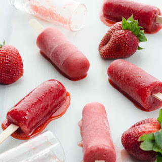 Strawberry Paletas.