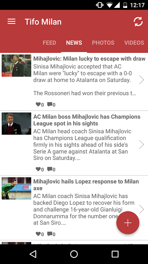 Tifomilan for Milan Fans- screenshot