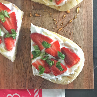 Strawberry Naan Pizza.