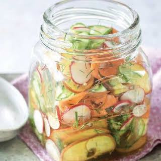 Mixed Vegetable Ribbon Pickle.