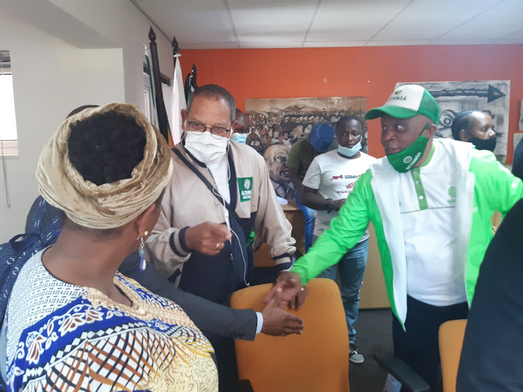 Action SA leader Herman Mashaba met with protesting artists who have staged a sit-in since early March at the National Arts Council in Newtown.