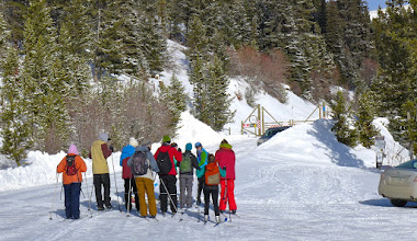 Photo: 12 students and 2 teachers ready to hit the trail near MacDonald Pass 15 miles from Helena