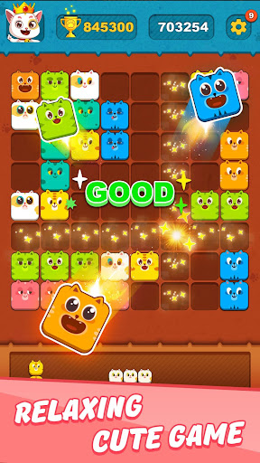 Block Crushu2122 - Cute Kitty Puzzle Game android2mod screenshots 2