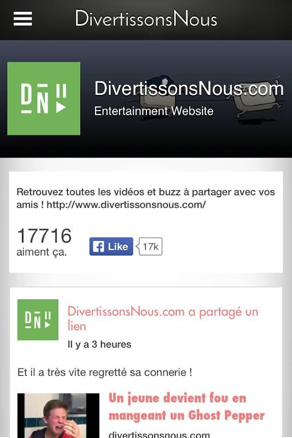 DivertissonsNous- screenshot