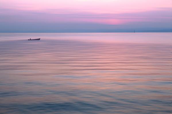 Un tramonto rosa di meteorite