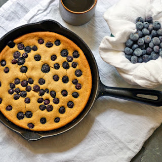Blueberry Oat Cake (V + GF).