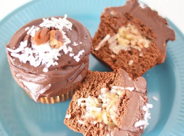 German Chocolate Filled Cupcakes Recipe
