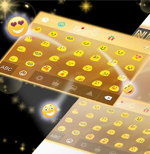 Neon Gold GO Keyboard screenshot 3