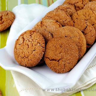 Crisp Gluten Free Gingersnap Cookies.