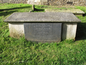 Photo: Tomb of several of Charles Darwin's children in churchyard of St. Mary's church, Downe, Kent. Copyright George Beccaloni