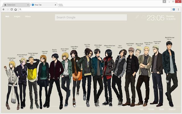 Attack On Titan Wallpaper Hd Aot Anime Newtab