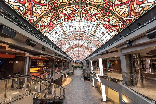 "msc-meraviglia-galleria.jpg -  The 262-foot-high LED ""sky"" above the Galleria Meraviglia on MSC Meraviglia."