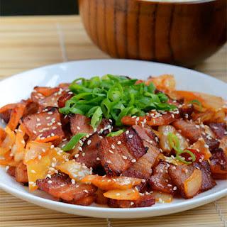 Pork Belly and Kimchi Stir-fry