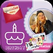 Birthday Invitation Card Landscape