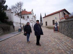 """Photo: Zatímco já s """"produkčním"""" Pavlem Fispou už spěcháme ke kostelu."""