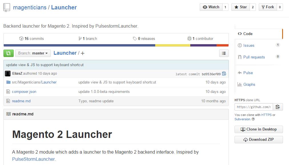 Launcher Magento 2 module