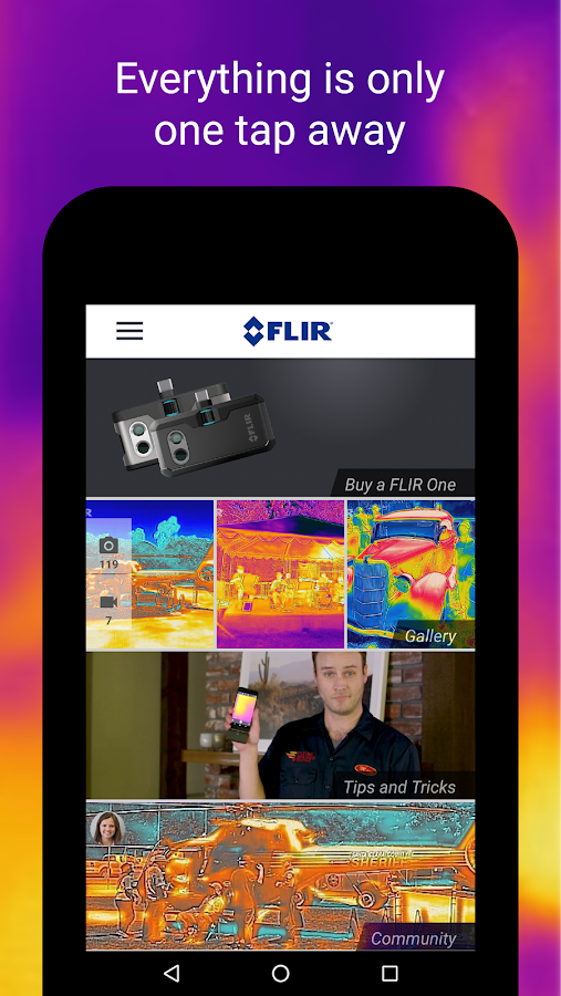 FLIR ONE- screenshot