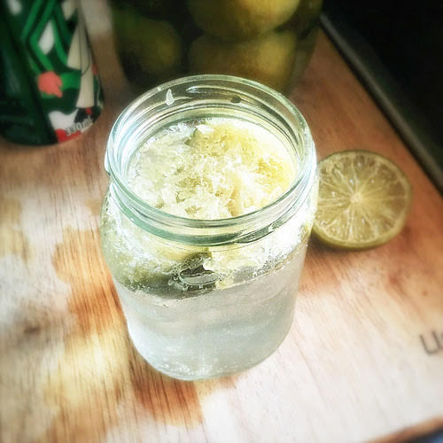 Chinese, Preserved Limes, preserved lemons, chui chow, salted lime lemon, fermented lime lemon, recipe, method, how to, tonic drink, 7up,   咸青檸 , 咸檸 7, 醃鹹檸檬, 咸檸檬