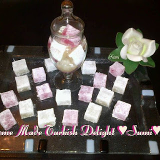 Home Made Turkish Delight Sweets
