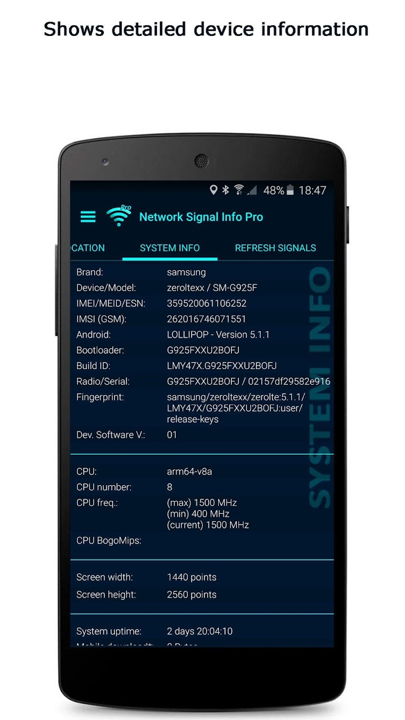 Network Signal Info Pro Screenshot 4