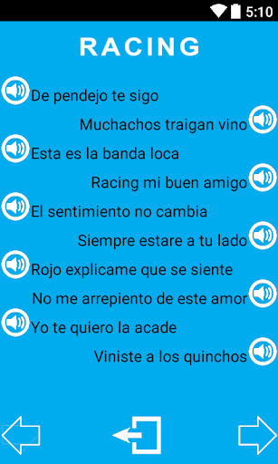 Canciones Racing Club