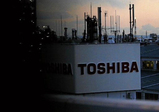 The logo of Toshiba. is seen at the company's facility in Kawasaki, Japan. Picture: Reuters/Issei Kato