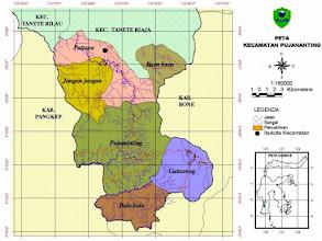 Photo: Peta Pujananting (Pujananti atau Sunra Riaja), Kabupaten Barru, Sulawesi Selatan. Sumber peta : http://www.barrukab.go.id/ind/kec/pujananting.jpg Lihat Sejarah Kota Makassar : http://nurkasim49.blogspot.fi/2011/12/ii.html