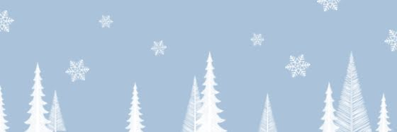 Holiday Snowflakes & Trees - Email Header Template