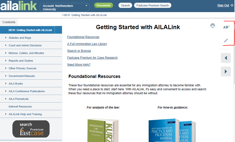 Image of AILALink Getting Started Page