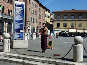 Photo: Street magician on this piazza