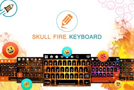 Skull Fire Keyboard - náhled