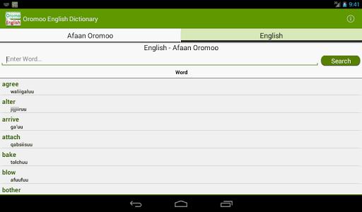 Download Afaan Oromo English Dictionary Google Play