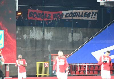 """📷 Les supporters du Standard ont encore laissé un message à la direction et aux joueurs : """"Bougez vos c..."""""""