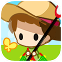 Summer vacation bug catching icon