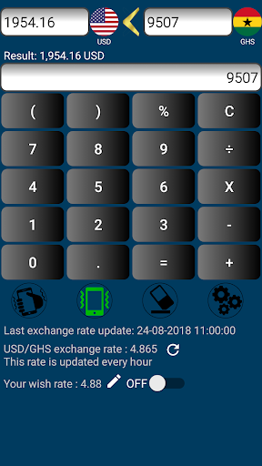 Us Dollar To Ghanaian Cedi Or Ghs Usd Screenshot 2