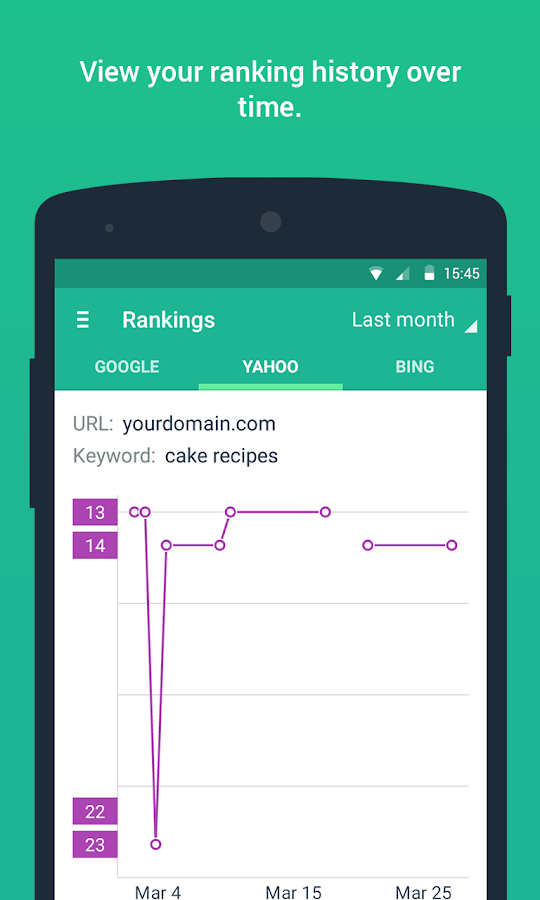 SEO SERP mojo - Rank Tracker- screenshot